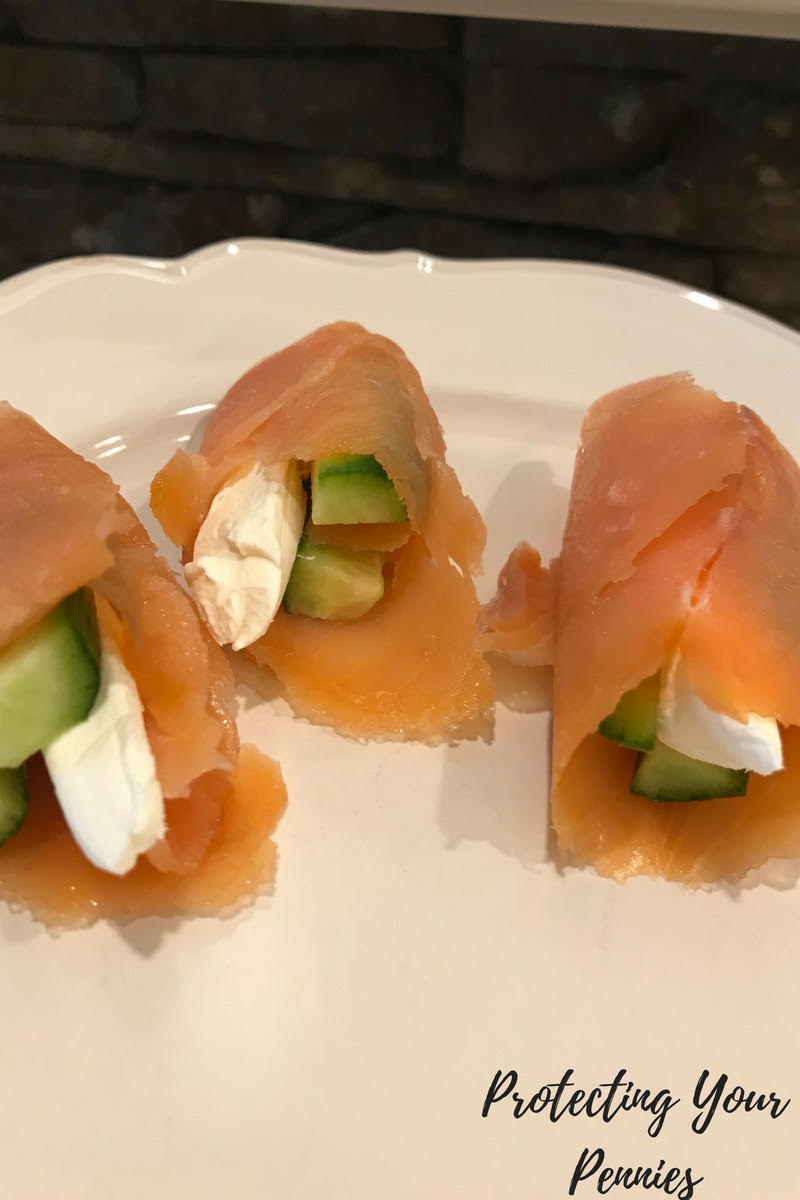 Keto Low Carb THM S Salmon Roll Up