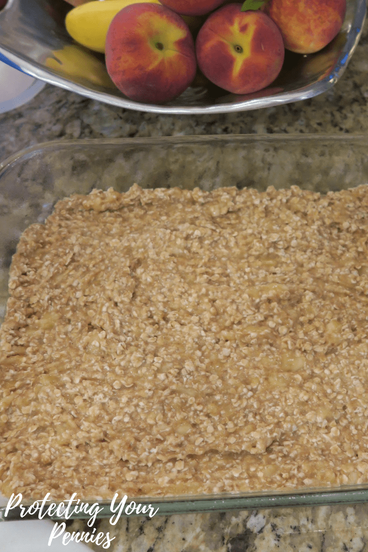 Baked oatmeal in dish pre baking