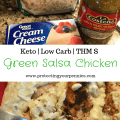Easy Green Salsa Chicken with Cauliflower rice Recipe - Keto- low carb - Trim Healthy Mama S Meal