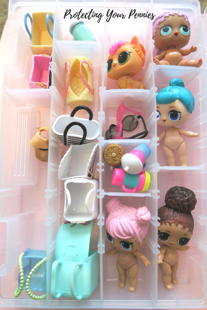 LOL Doll Storage Solution Large Tackle Box