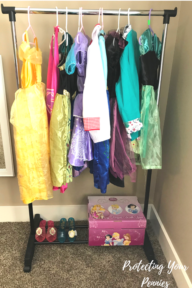 Dress Up Organization for playroom