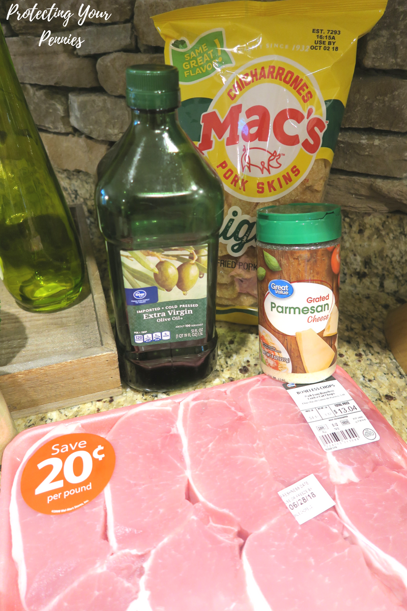 Keto Parmesan Crusted Pork Chop Ingredients