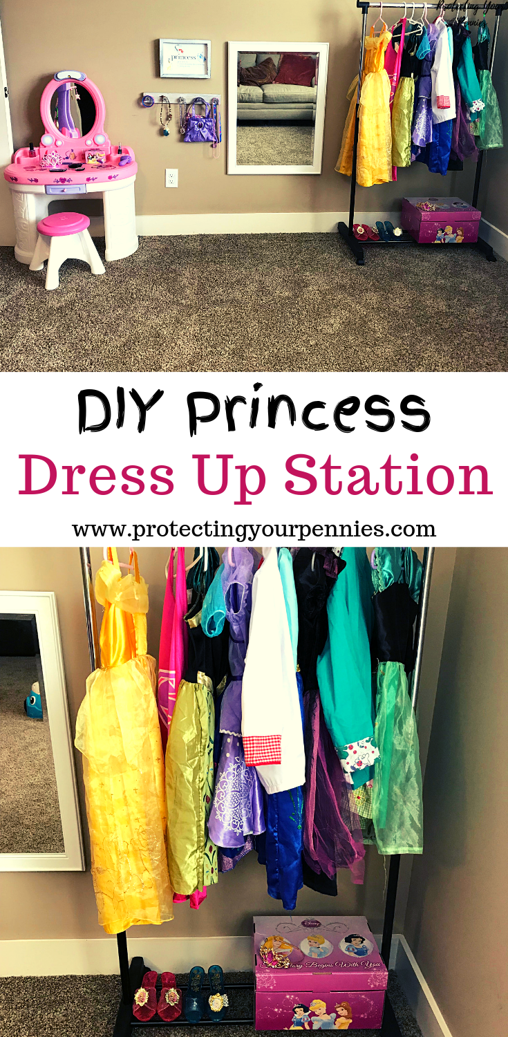 Organized Dress Up and Role Play Station for Kids
