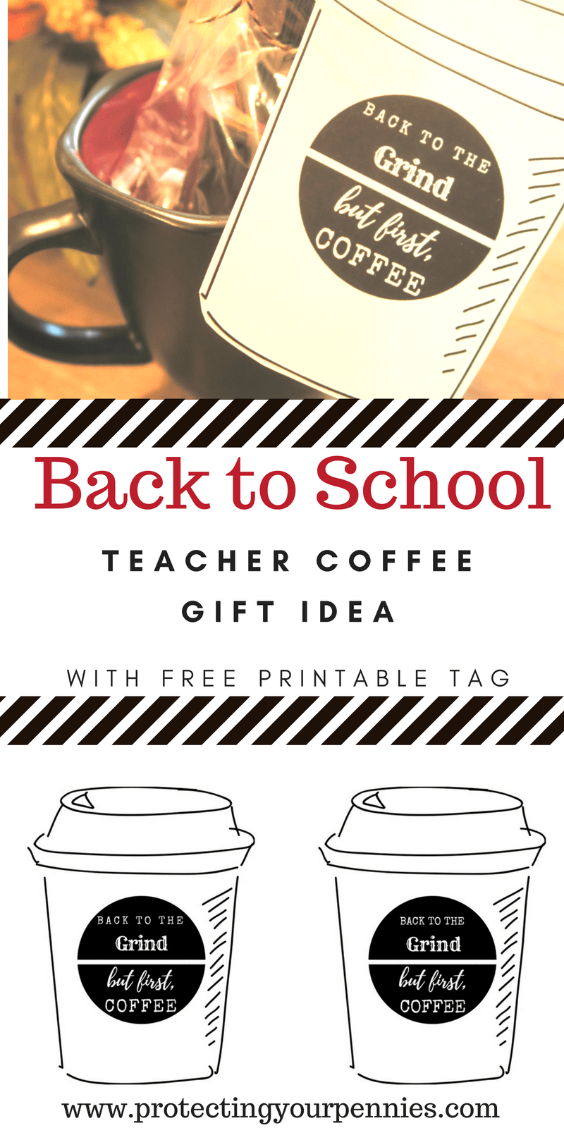 Back to School Teacher Coffee Idea with Tag and Gift Idea