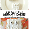 Easy No Bake Halloween Mummy Snack Cake