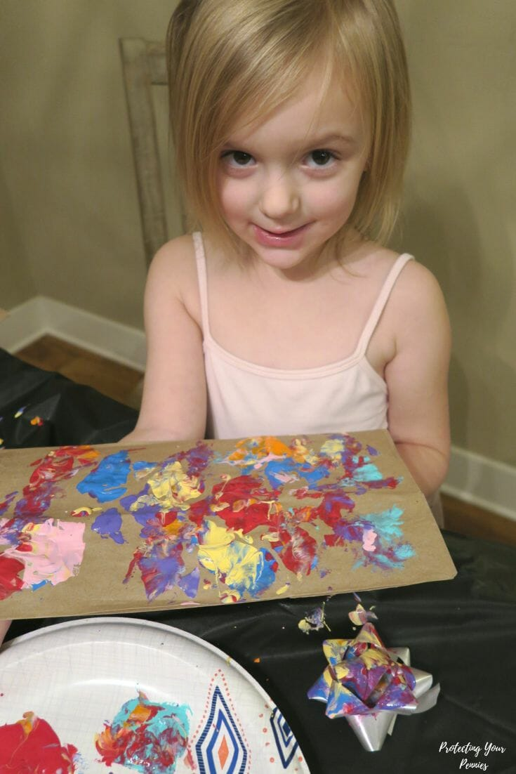 Christmas Bow Painting Activity for Kids
