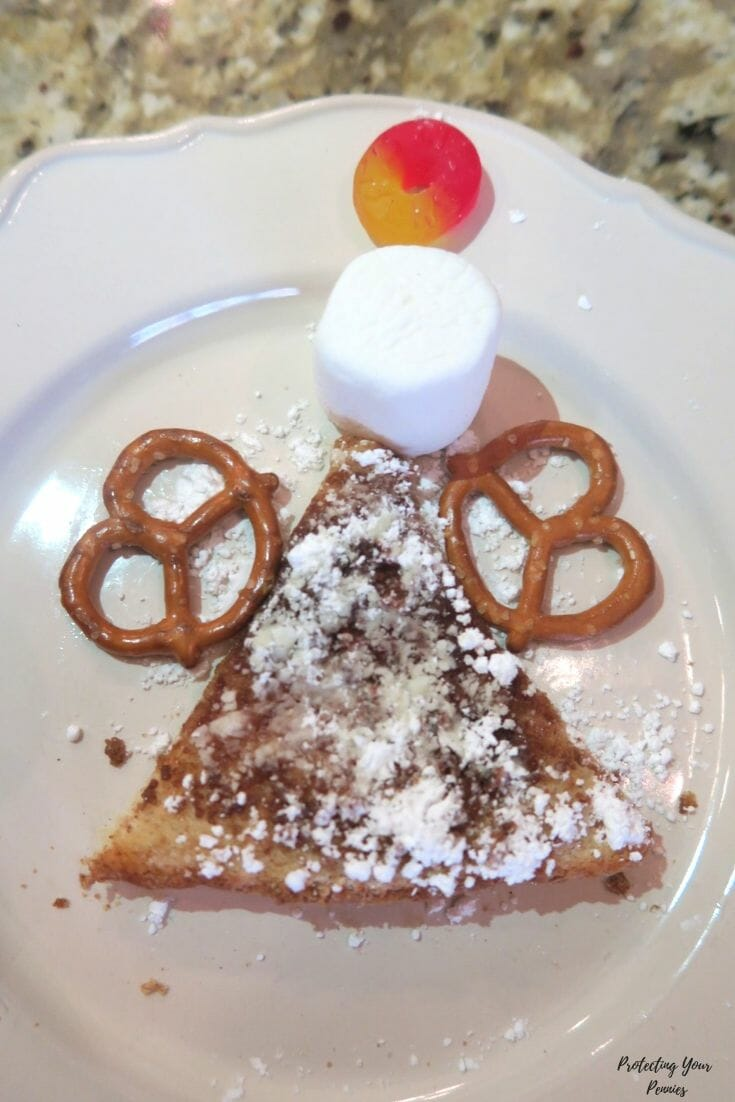 Christmas Angel Cinnamon Toast Snack - Sunday School After School Treat