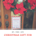 Delivery Driver Christmas Gift for UPS FedEX and USPS Postal Workers. Spread Christmas cheer inexpensively with a Free gift card holder printable.