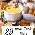 29 Low Carb Dips for Pork Rinds. Some with cream cheese and some that are sour cream based. Great dips for pork rinds or veggies on a low carb, keto or THM S diet.