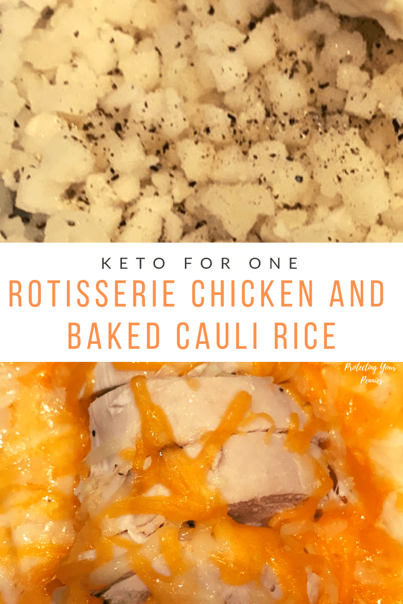 Keto Baked Chicken and Cauliflower Rice For One