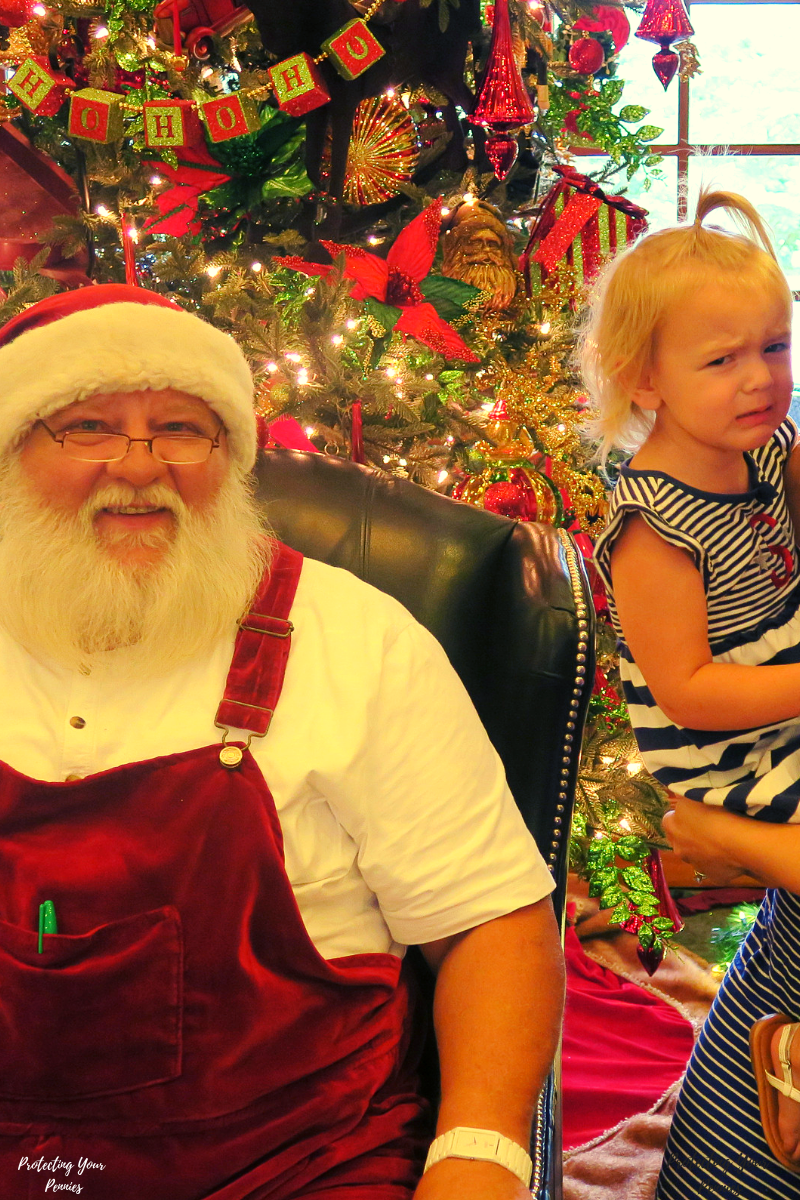 Kid Doesnt like Santa at The Inn At Christmas Place