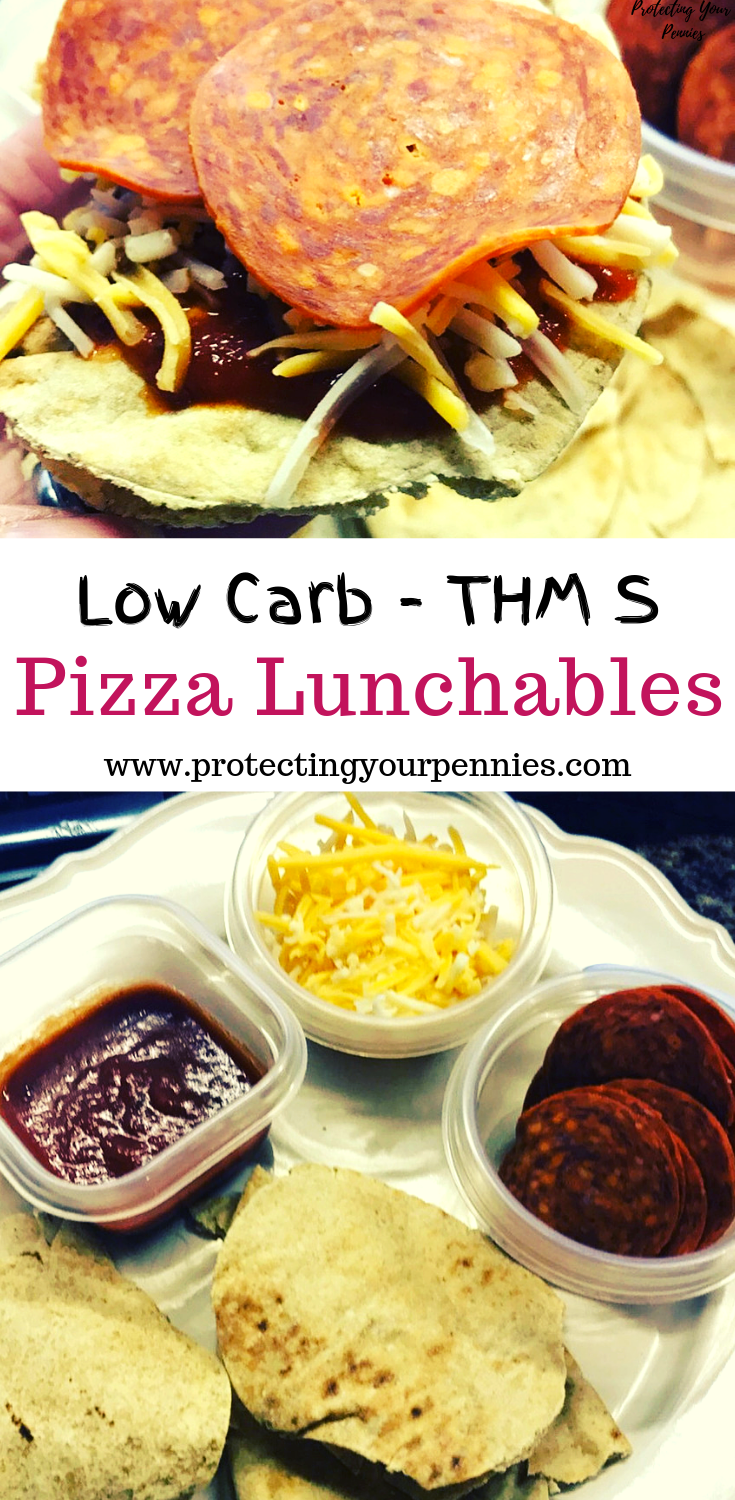 THM S - Low Carb Homemade Pizza Lunchable Lunch Idea