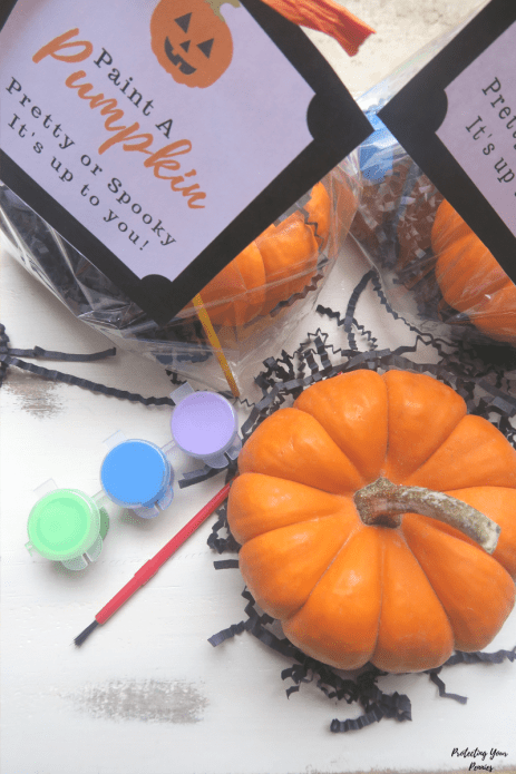 Paint, Paintbrush, Mini Pumpkin Favor Kit for Kids at Halloween
