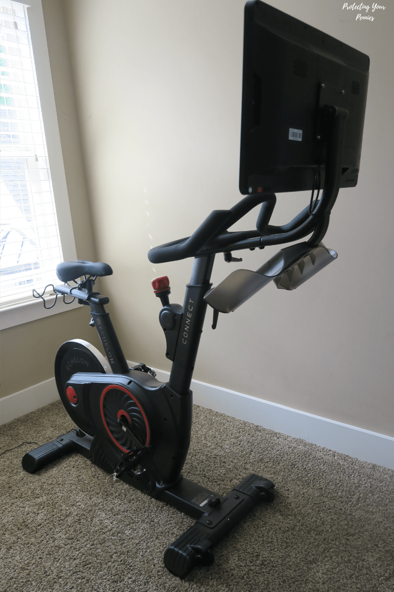 Echelon EX5S Smart Bike with Attached Tablet