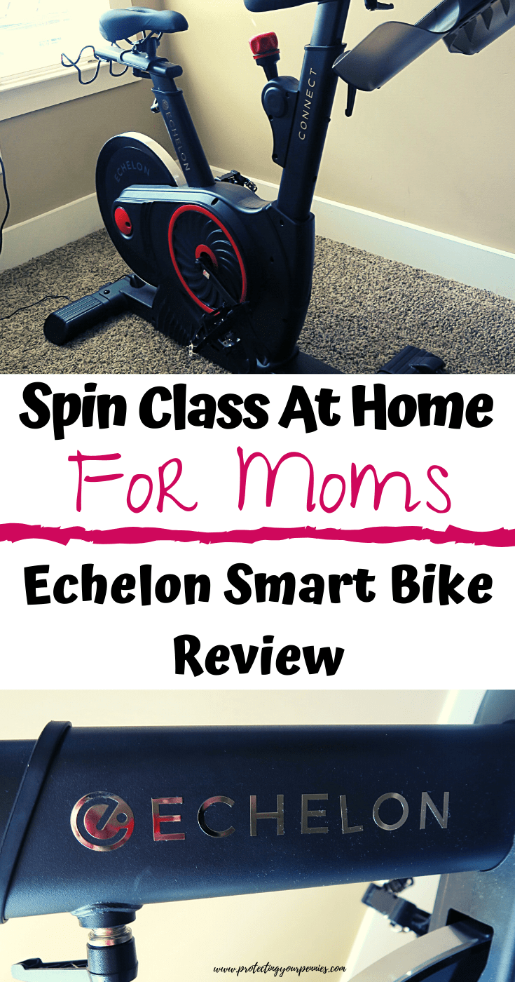 Spin Class At Home for Moms - Echelon Smart Bike Review