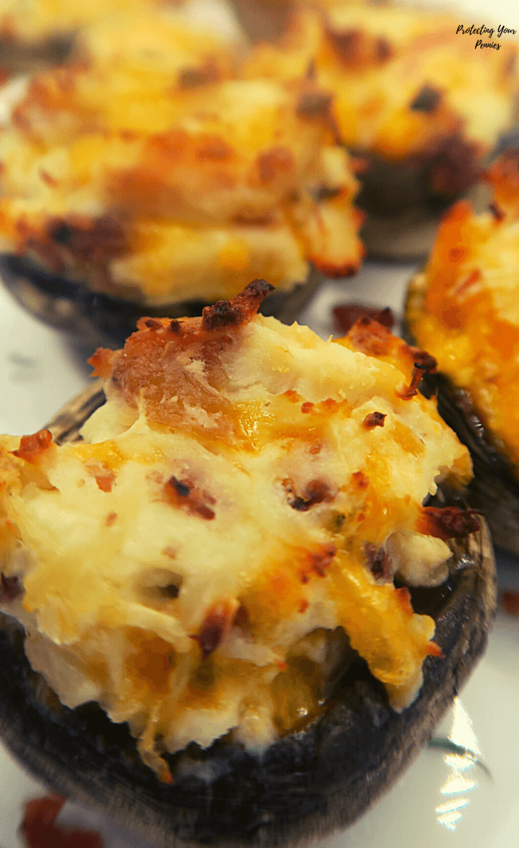 Cream Cheese and Bacon Stuffed Mushrooms (1)