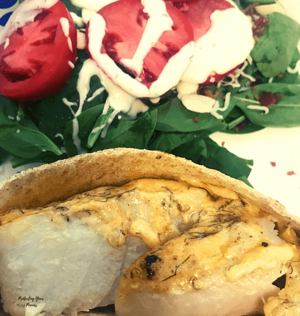 Grouper in a Pita with Salad (1)