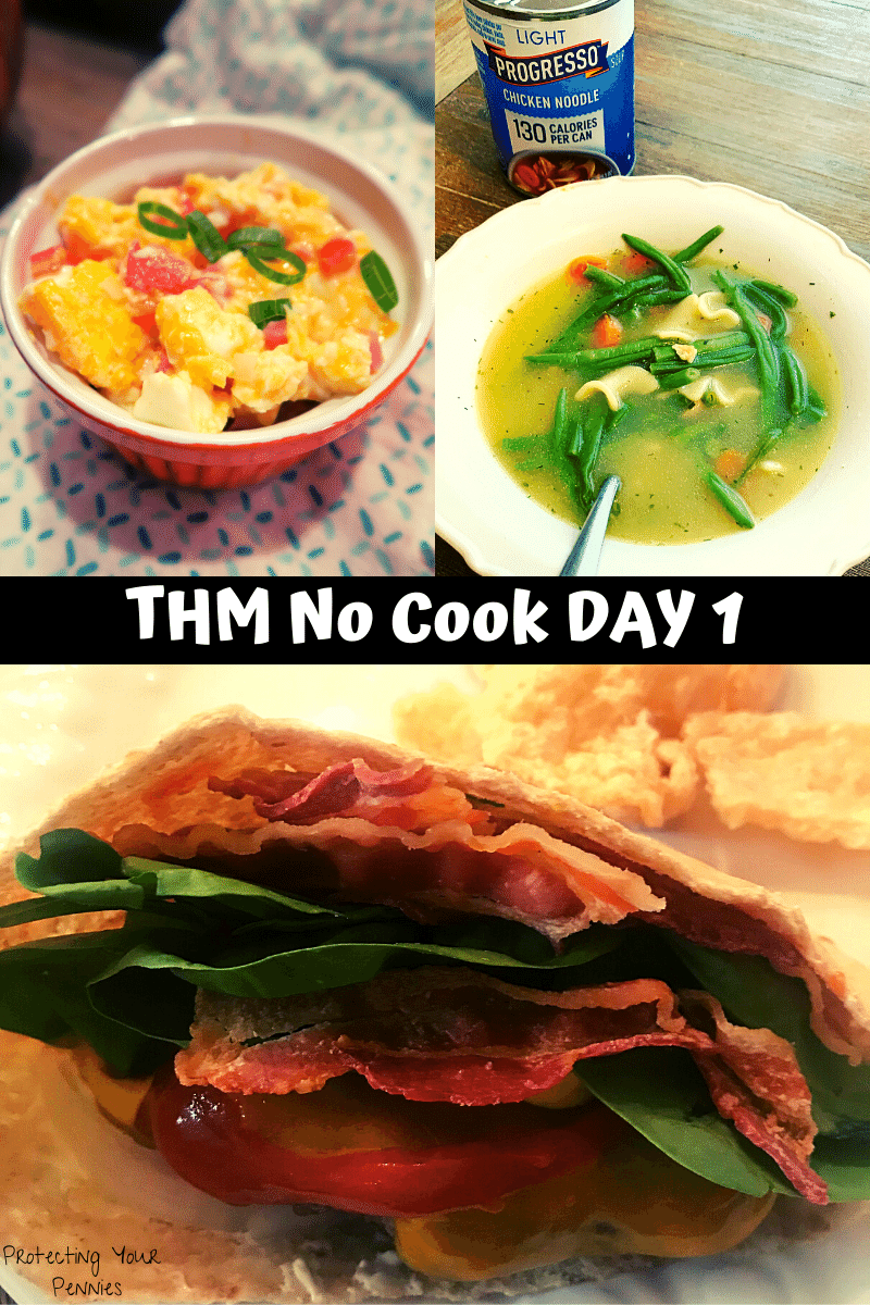 THM Easy Meal Plan Day 1 No Cook