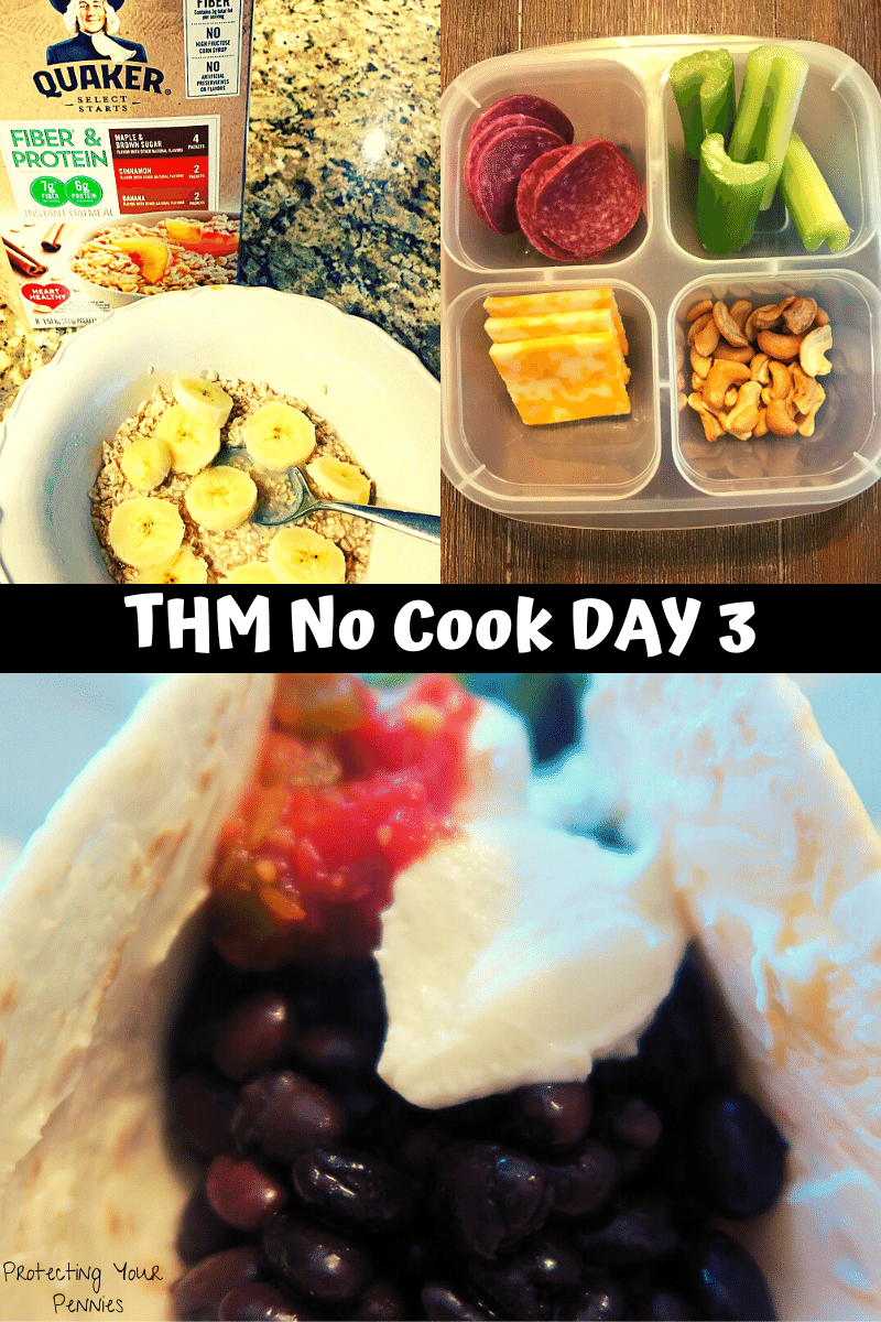 THM Easy Meal Plan Day 3 No Cook