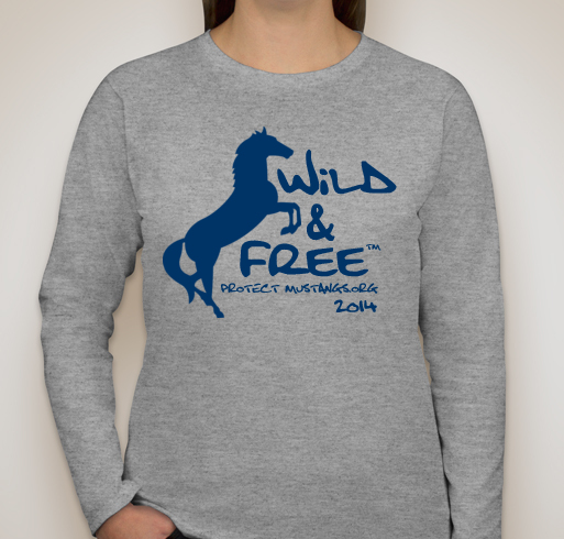 PM T-shirt Wild & Free Grey