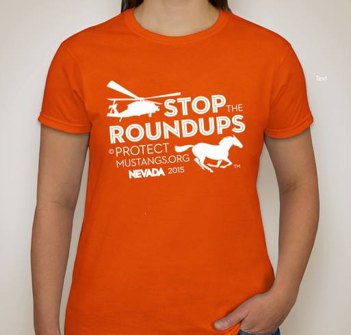 Stop the roundups protect mustangs for Selling t shirt designs