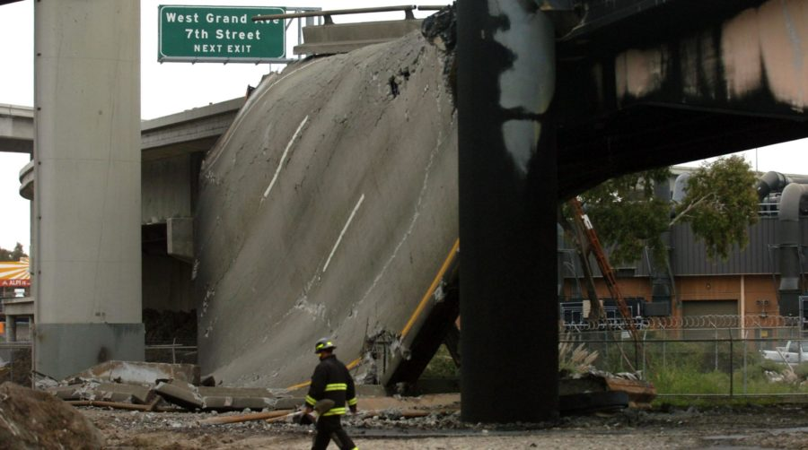 i580 bridge fire collapse