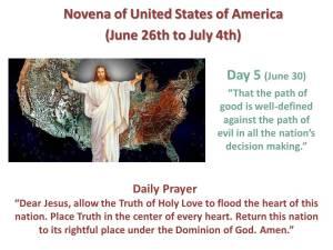 Novena of USA Day 5