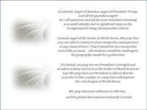 Zechariah Samuel Angels Prayer about North Korea REVERSE COLORS