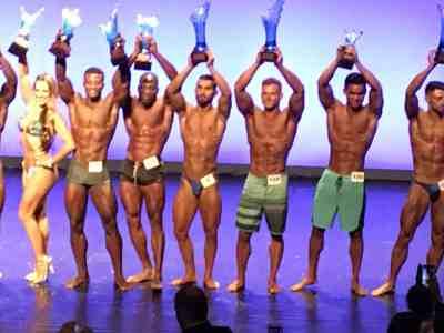 """Nico BZH: Premier en catégorie Body """"Ultra Light"""" au Naturel à Musclemania Paris."""