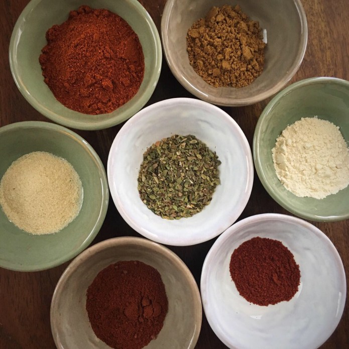 Homemade Chili Powder Mise en Place