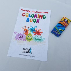 The Protekt Probiotic coloring book