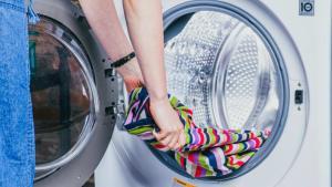 Bacteria and virus contaminated washing machine