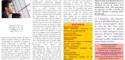 BLOC NOTES DE LA SEMAINE