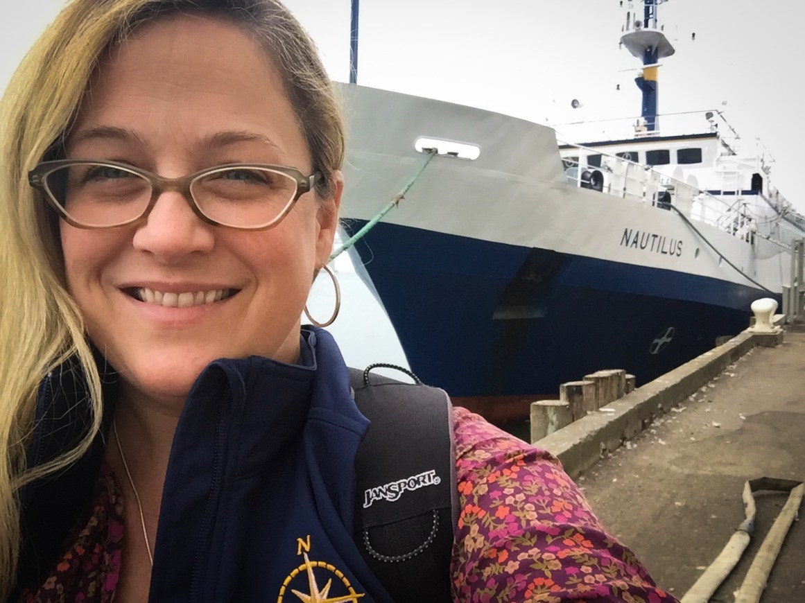 Proteus Executive Director and Lead Science Communication Fellow for the E/V Nautilus Jenny Woodman. Image Credit: Jenny Woodman