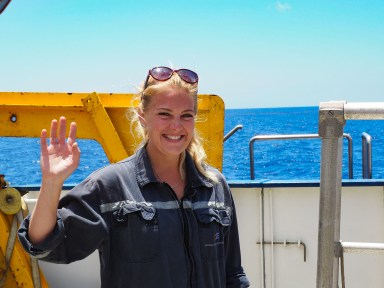 Martynas Graban is the first officer on the Nautilus where she has served for two years. Image Credit: Jenny Woodman