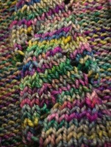 A turtle trail along a scarf. Image Credit: Jenny Woodman