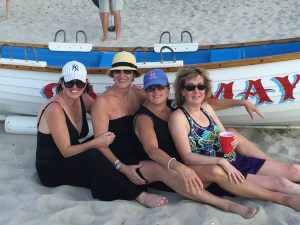 Carol and her three sisters in their favorite place Cape May, NJ where they vacation every year