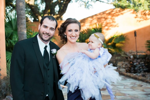 Pictured above is Shayla with her husband, Steve and adorable daughter, Brooke at a family wedding