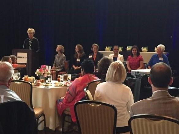 Tricia Callahan, a Dallas Senior Manager, was recognized for her women's initiative efforts in Protiviti's Dallas office!