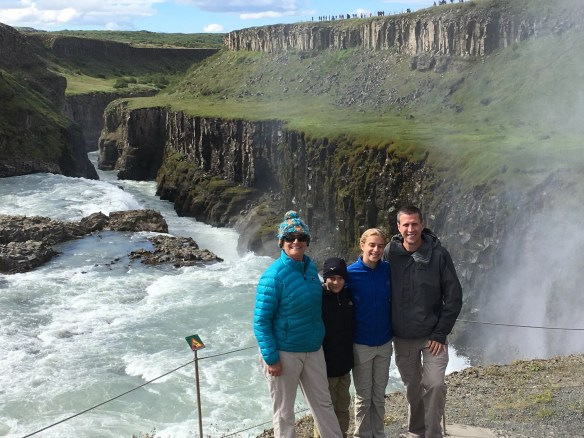 Pictured above is Jill and her family in Iceland.