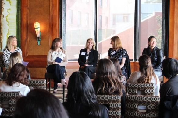 From left to right: Susan Alexander (Protiviti), Kim Bollin (Salesforce), Susan Haseley (Protiviti), Tiffany Gantus (Restoration Hardware), Rachel Bell (Virgin America)