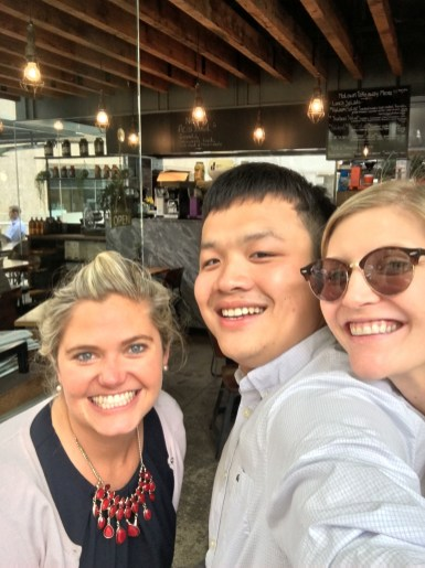 Matthew with Shelley & Victoria who are currently in Australia as part of Protiviti's Global Mobility Program