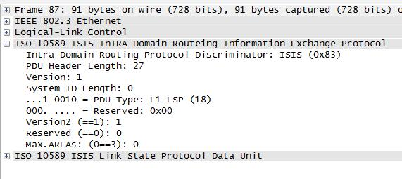 ISIS LSP (Link State Protocol)