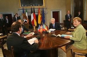 Reunión de los presidentes de España, Italia, Alemania y Francia en Roma