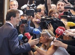 Rajoy con periodistas europeos