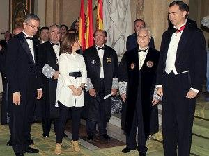 Ministro de Justicia, vicepresidenta, presidente del CGPJ y Príncipe de Asturias