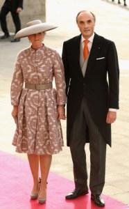 Astrid de Bélgica y el Archiduqie Lorenzo de Austria