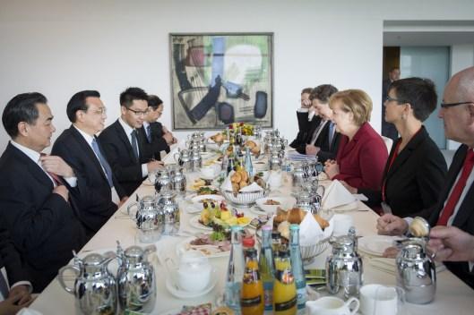 Angela Merkel y el Primer Ministro de China