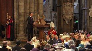 Lectura del Libro de los Reyes por David Cameron