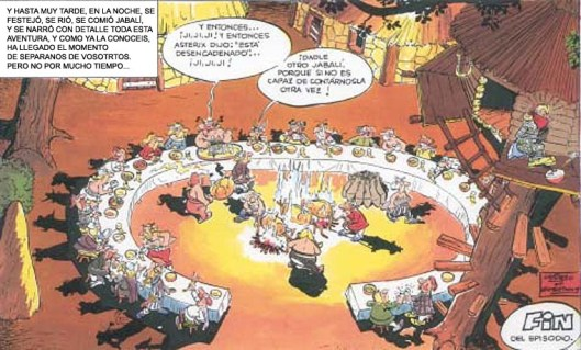 El banquete de la aldea gala